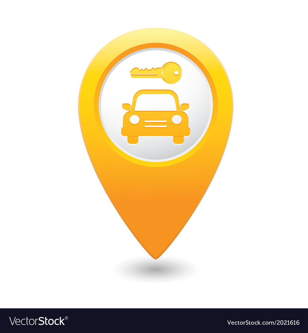 Parking symbol map pointer yellow vector | Price: 1 Credit (USD $1)