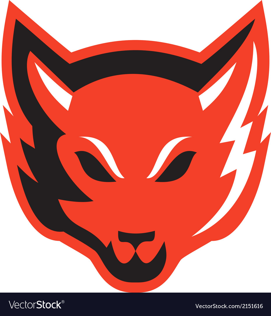 Red fox head front vector | Price: 1 Credit (USD $1)