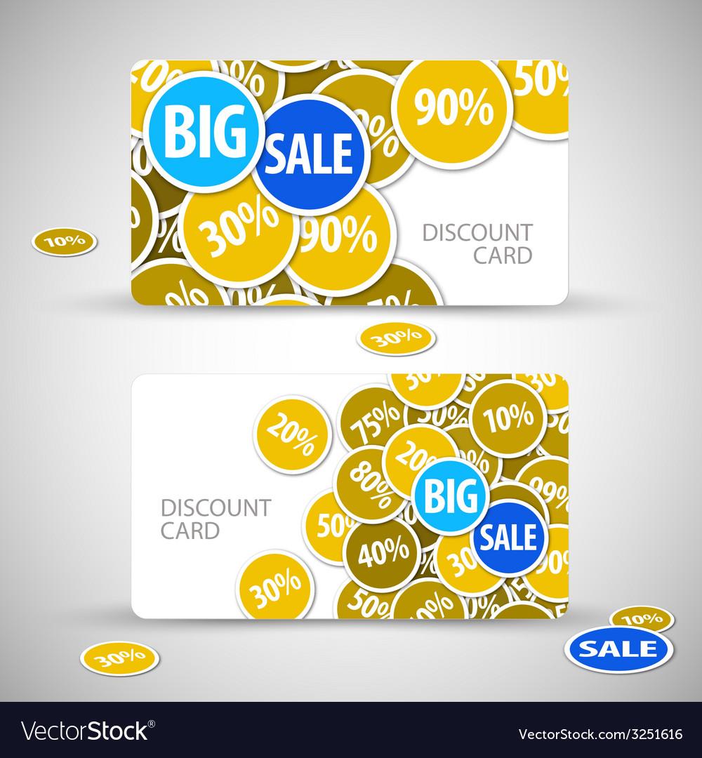 Set of big sale cards vector | Price: 1 Credit (USD $1)