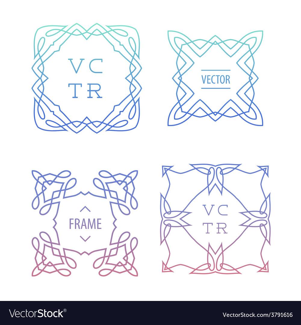 Trendy retro vintage insignias bundle vector | Price: 1 Credit (USD $1)