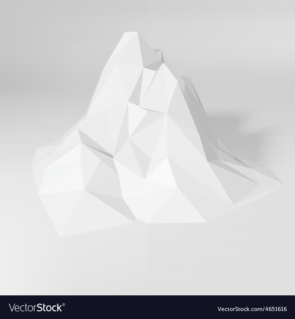 White polygonal mountain landscape vector | Price: 1 Credit (USD $1)