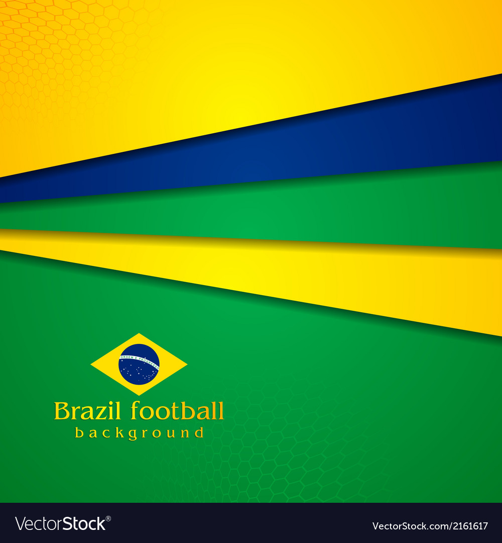 Abstract background in brazilian colors vector | Price: 1 Credit (USD $1)