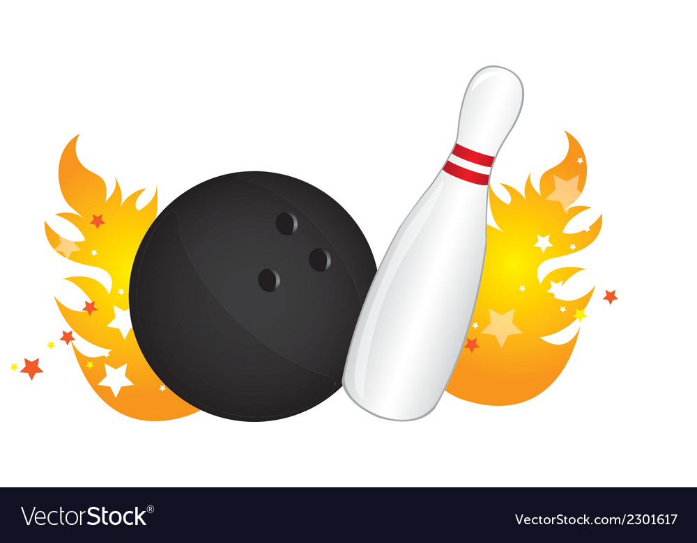 Bowling ball vector | Price: 1 Credit (USD $1)