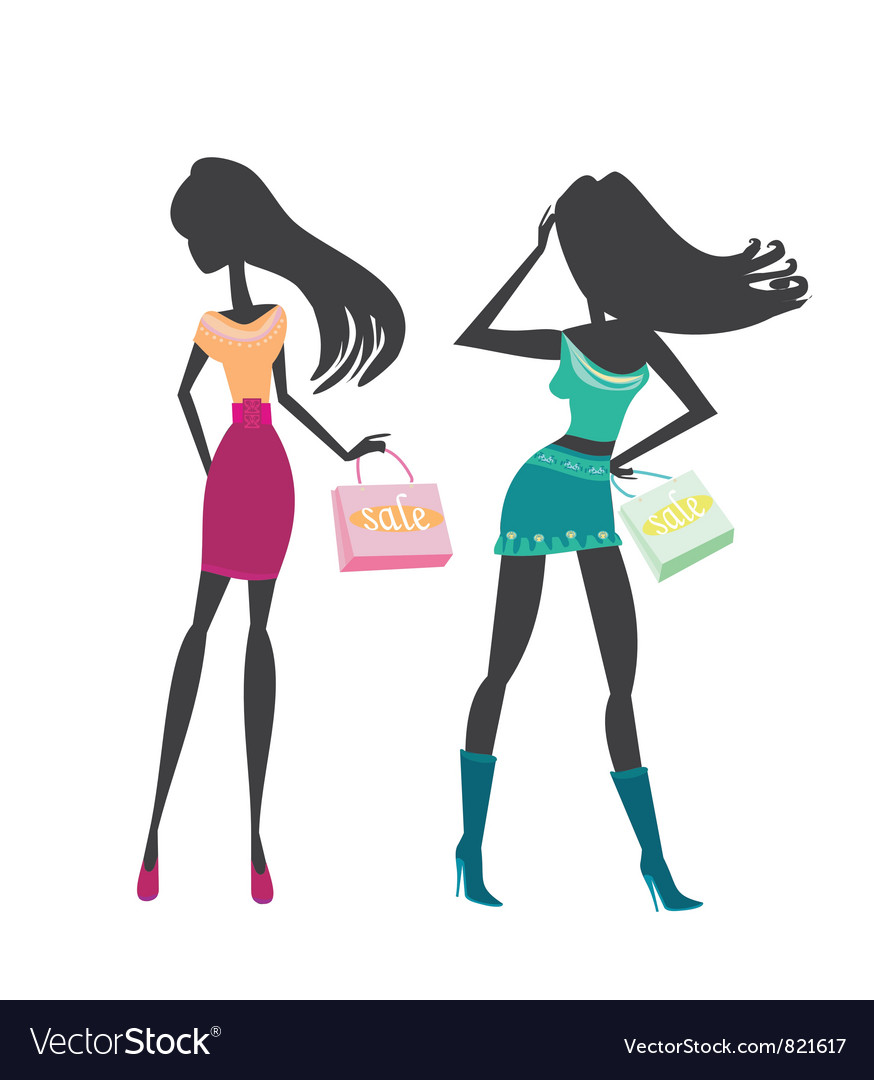 Fashion silhouettes vector | Price: 1 Credit (USD $1)