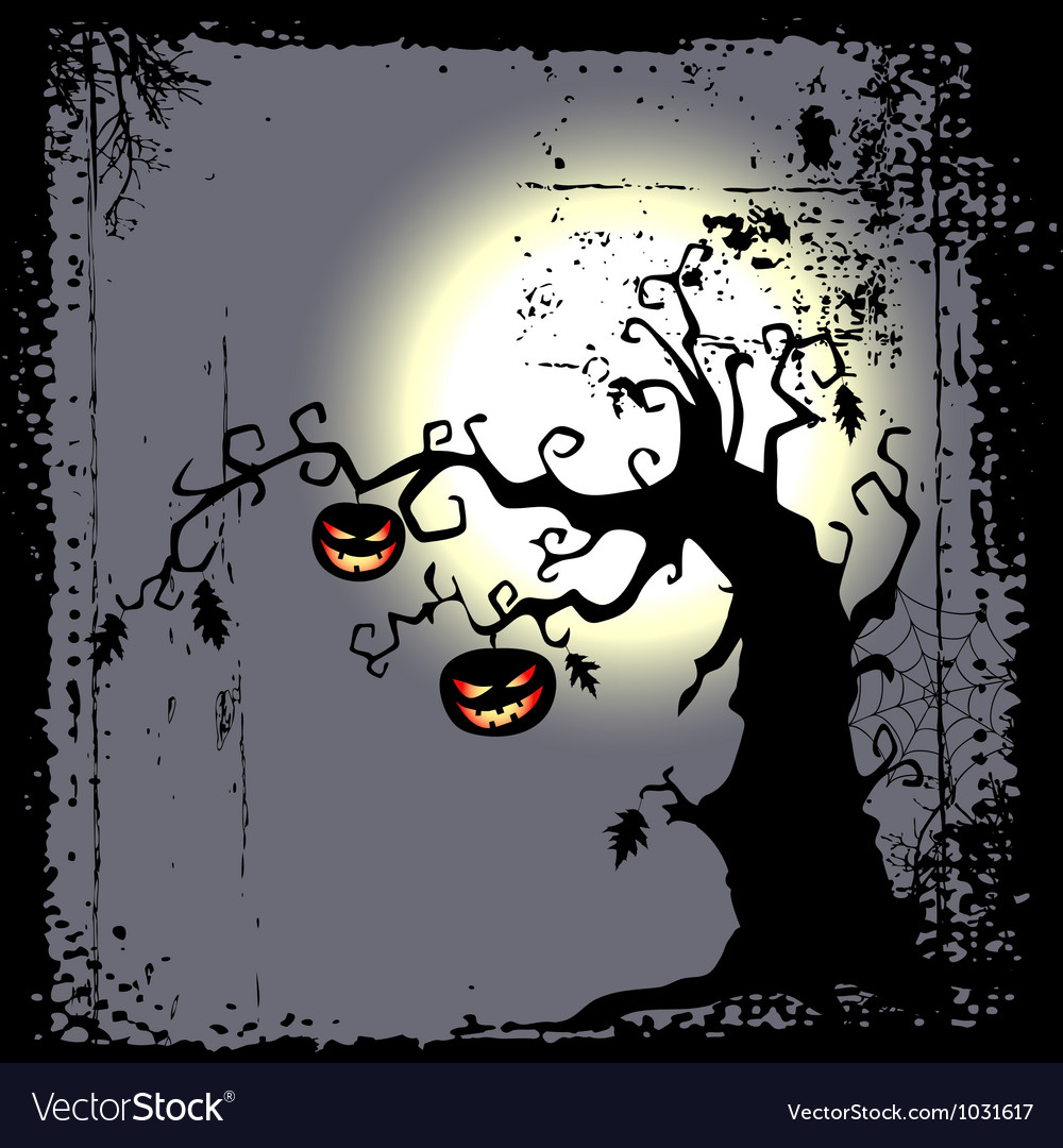 Halloween background with the scary tree vector   Price: 1 Credit (USD $1)