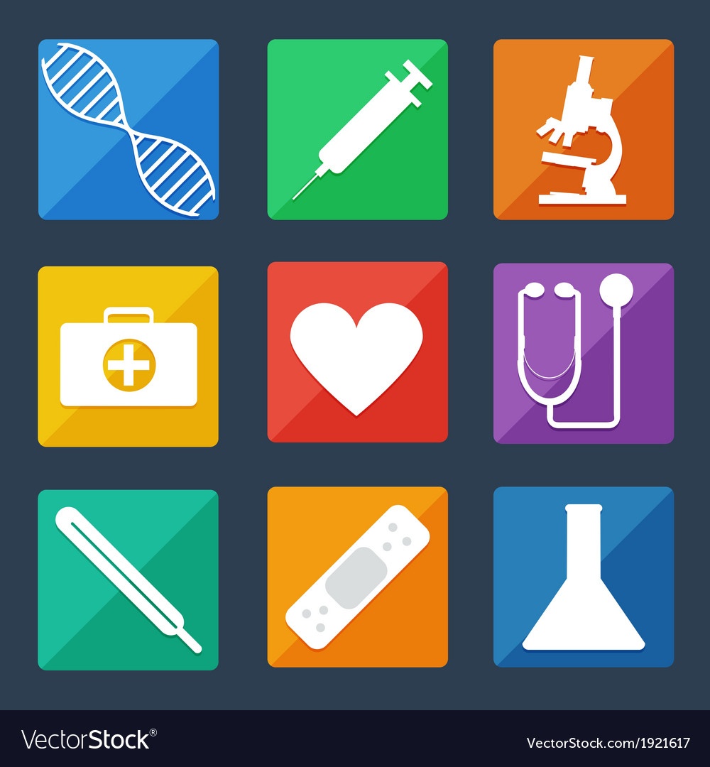 Medical icons flat ui vector | Price: 1 Credit (USD $1)