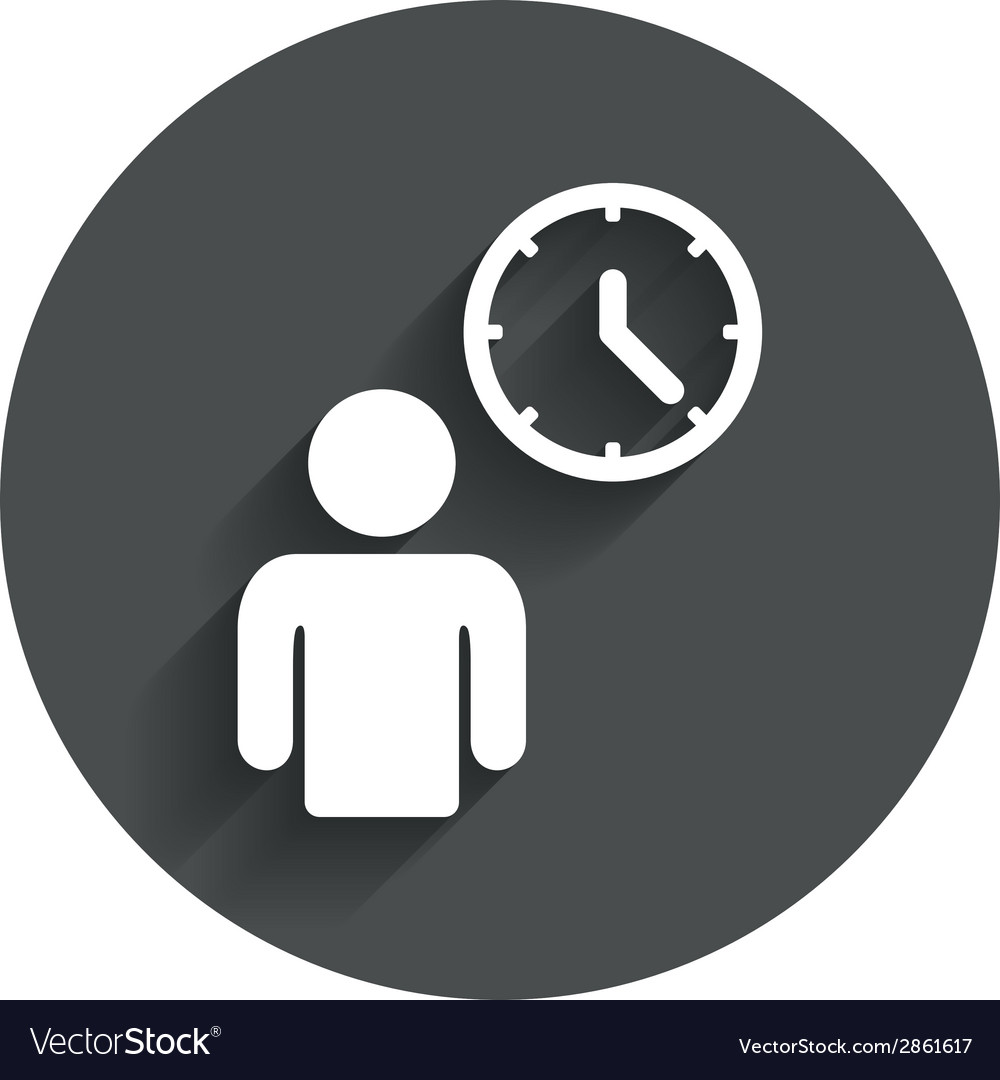 Person waiting sign icon time symbol vector | Price: 1 Credit (USD $1)