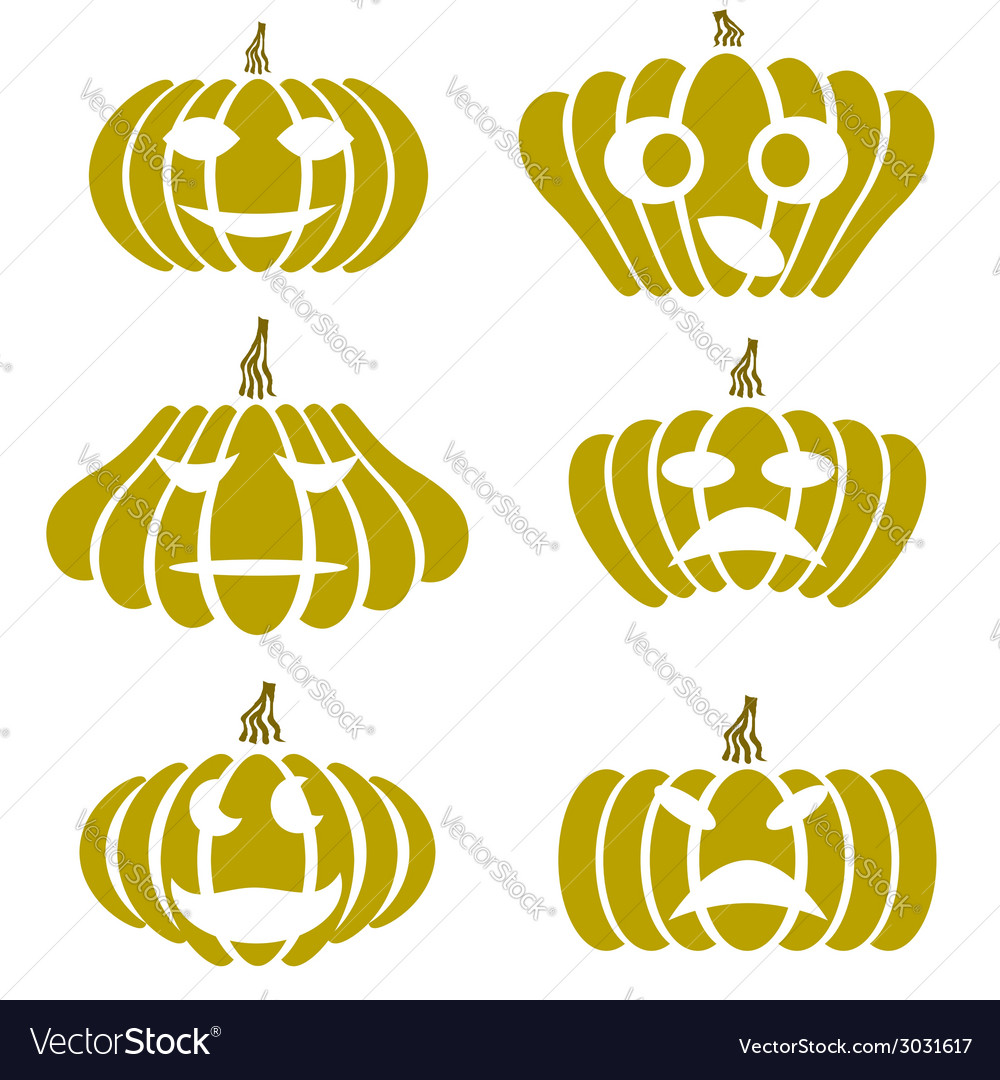 Silhouettes of pumpkin vector | Price: 1 Credit (USD $1)