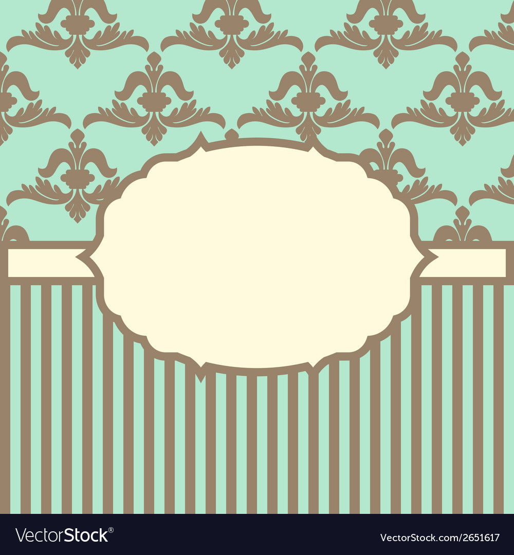 With baroque ornaments in victorian style vector | Price: 1 Credit (USD $1)