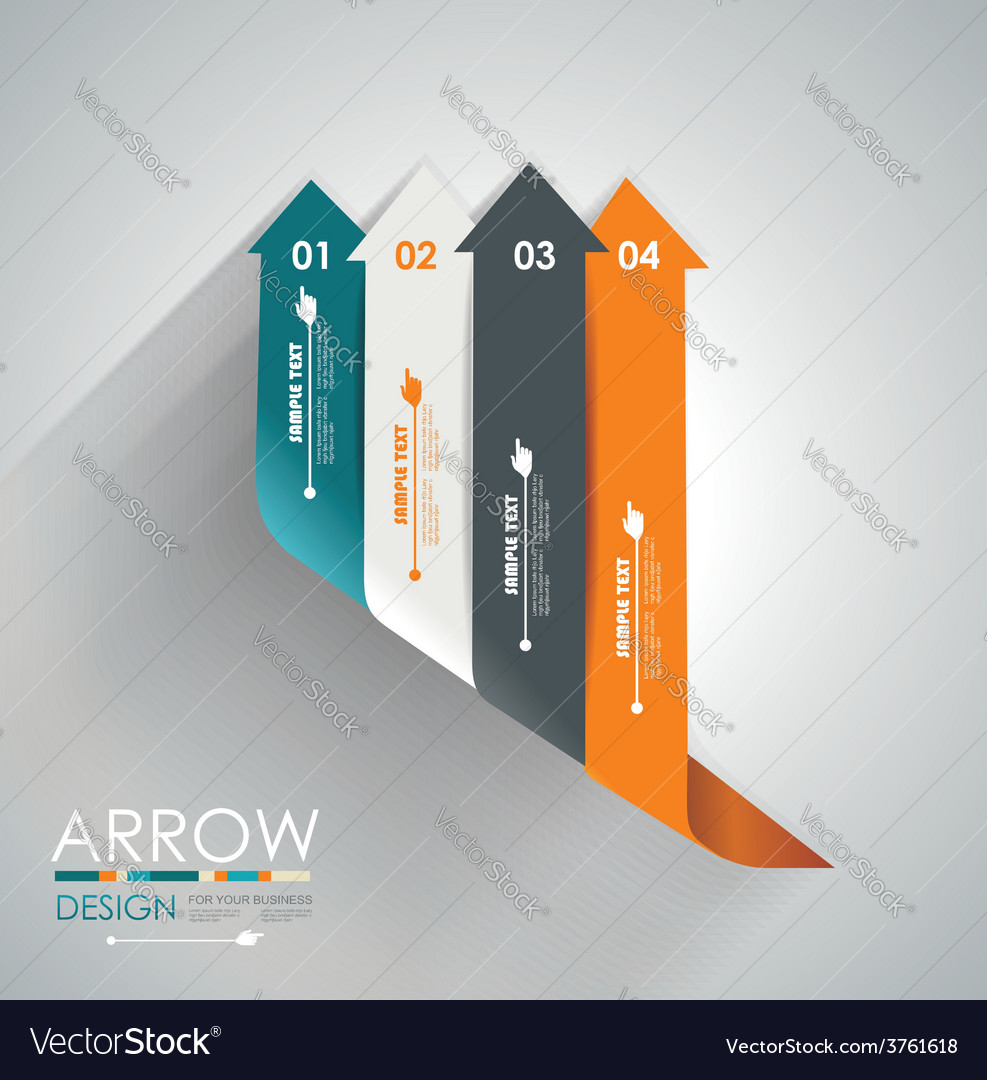 Abstract paper cut arrow background can be used vector | Price: 1 Credit (USD $1)