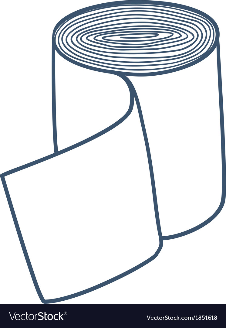 Bandage roll isolated on white vector | Price: 1 Credit (USD $1)