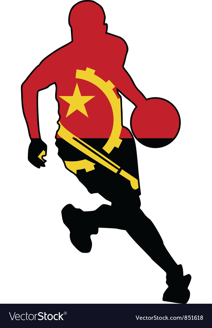 Basketball colors of angola vector | Price: 1 Credit (USD $1)
