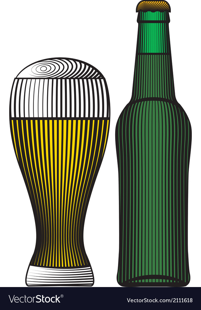 Beer bottle color vector | Price: 1 Credit (USD $1)