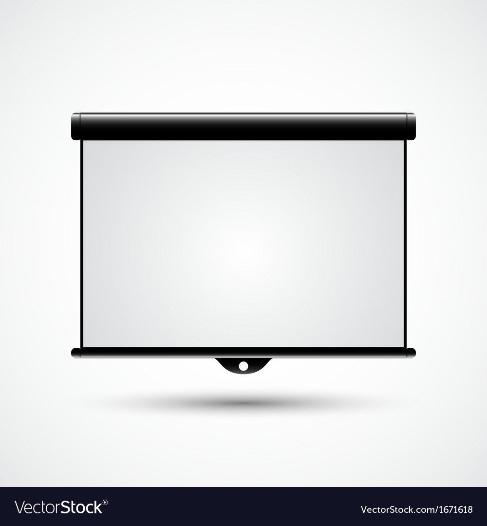 Blank projection screen vector | Price: 1 Credit (USD $1)