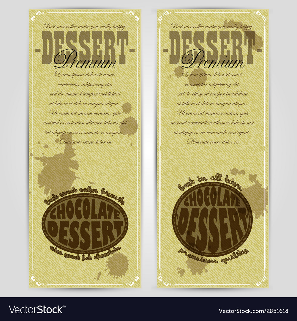 Dessert menu design rgb vector | Price: 1 Credit (USD $1)