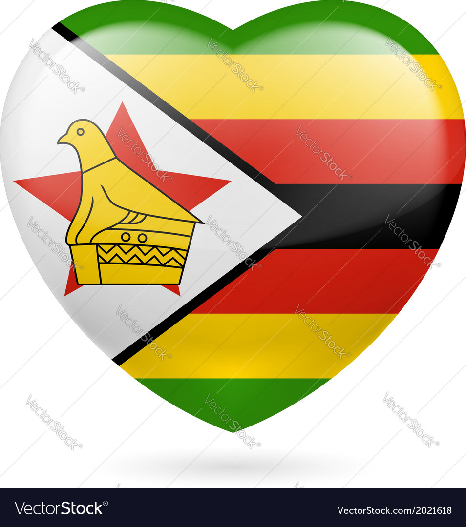 Heart icon of zimbabwe vector | Price: 1 Credit (USD $1)