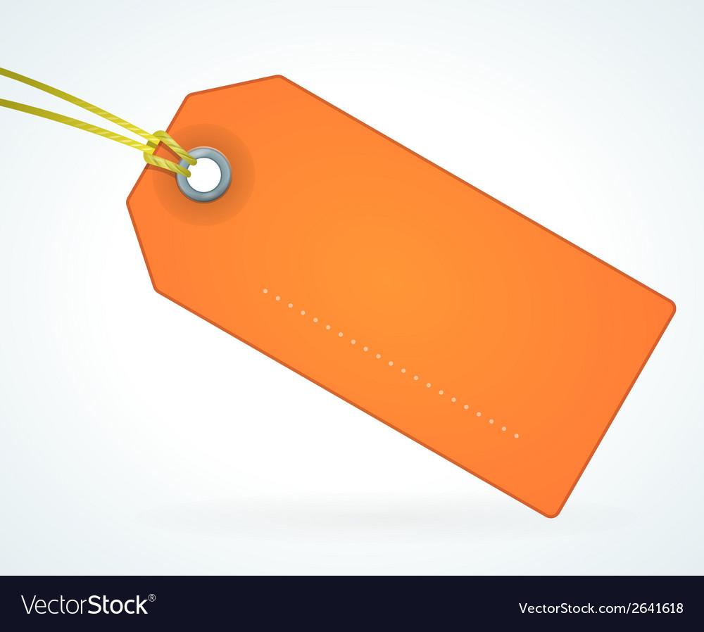 Orange paper label vector | Price: 1 Credit (USD $1)
