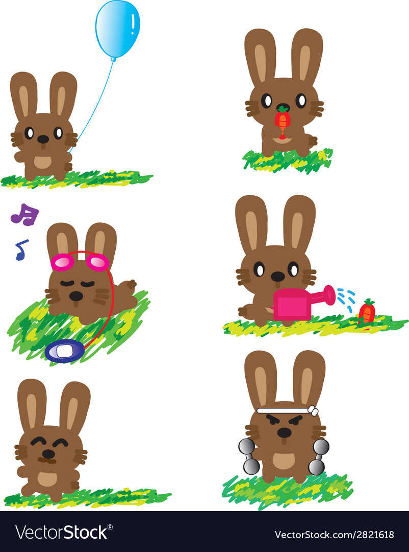 Rabbit holiday vector | Price: 1 Credit (USD $1)