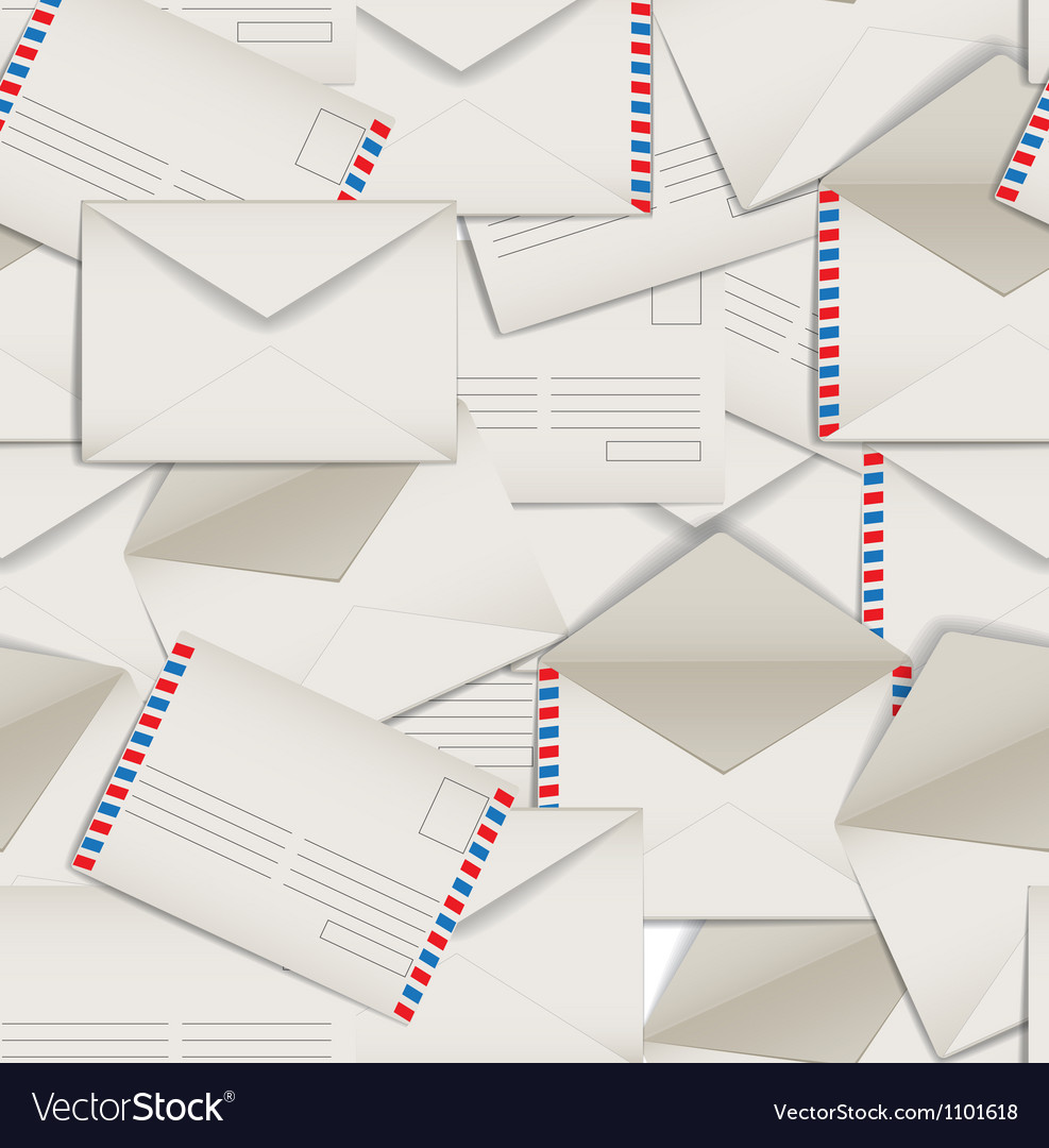 Seamless background of envelopes vector | Price: 1 Credit (USD $1)