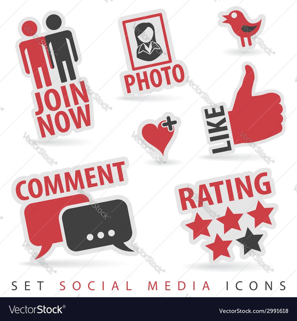 Set social media icons vector | Price: 1 Credit (USD $1)