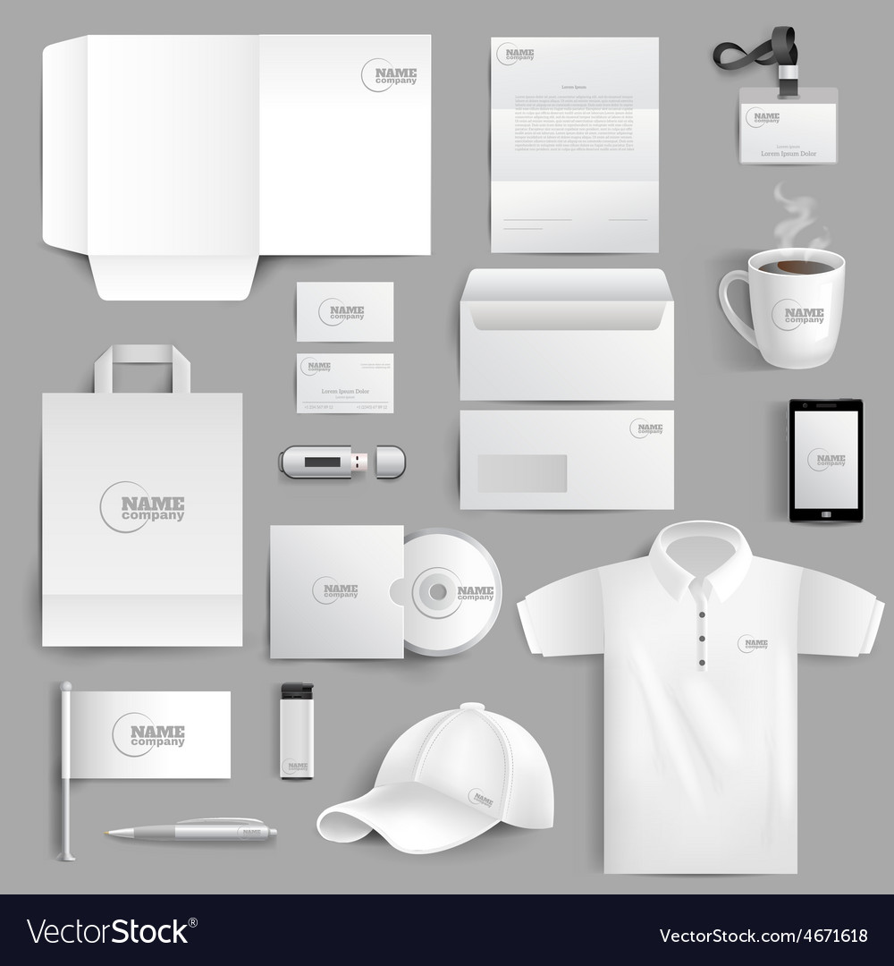 Stationery set realistic vector | Price: 1 Credit (USD $1)