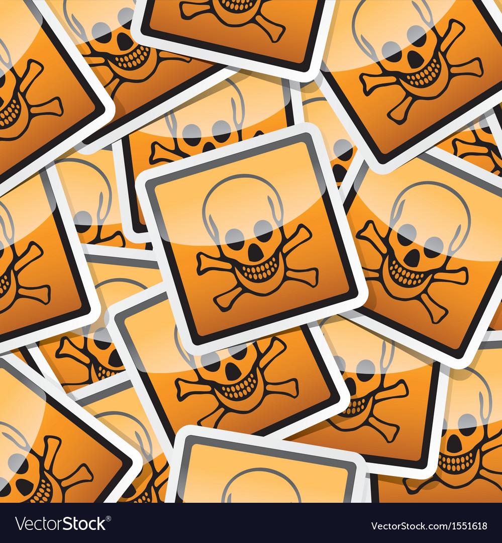 Sticker-danger-symbols vector | Price: 1 Credit (USD $1)