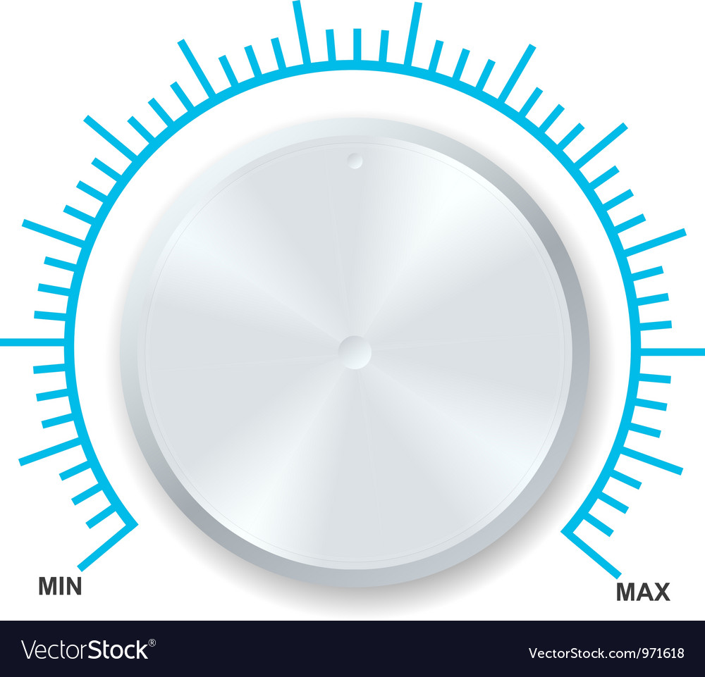 Volume balance knob vector | Price: 1 Credit (USD $1)