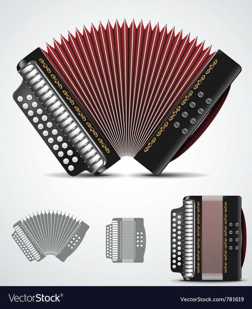 Accordion vector | Price: 3 Credit (USD $3)