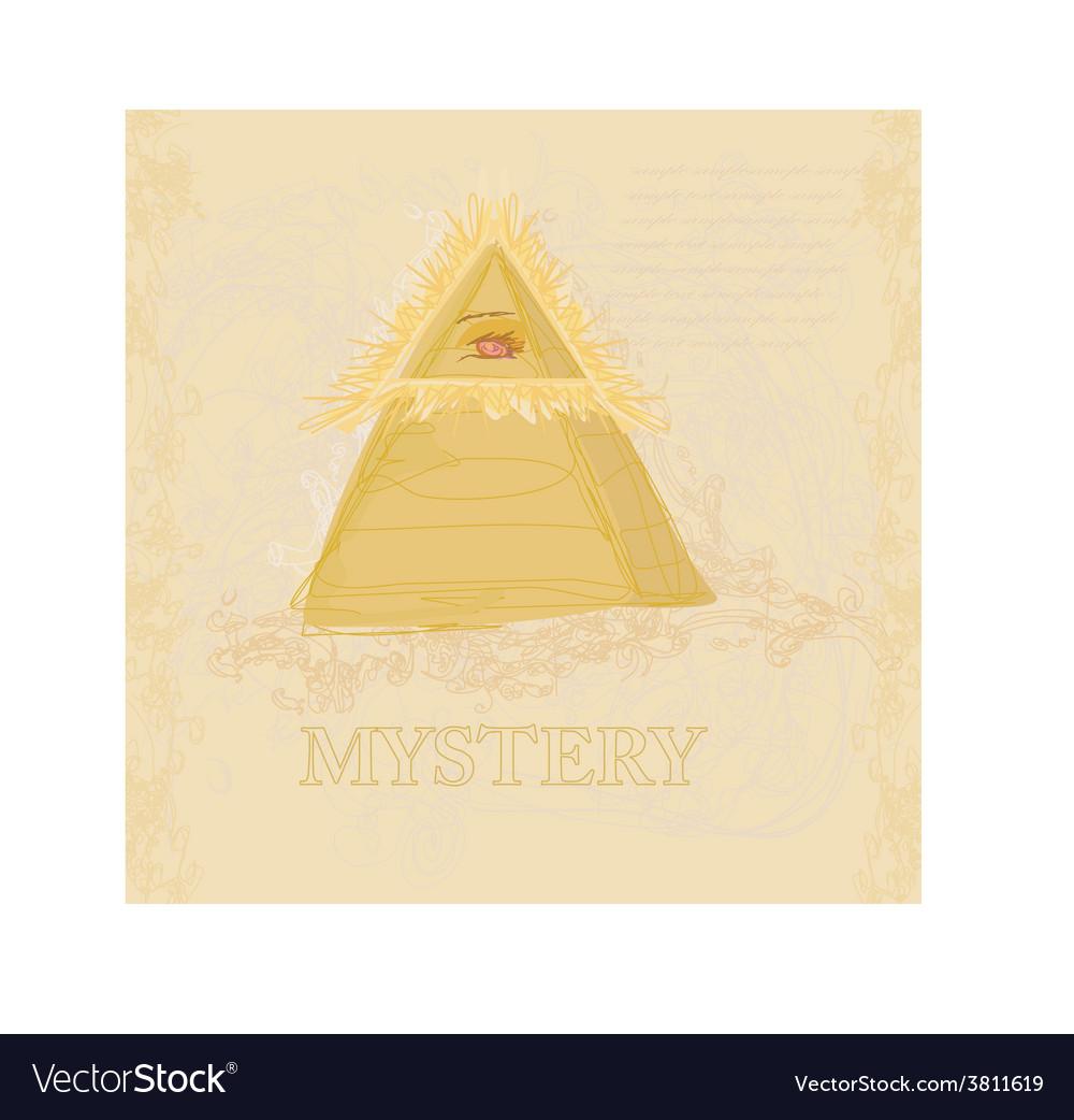 Ancient pyramid eye design vector | Price: 1 Credit (USD $1)