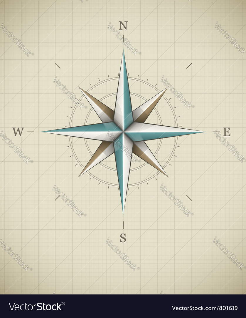 Antique wind rose symbol for vector | Price: 1 Credit (USD $1)