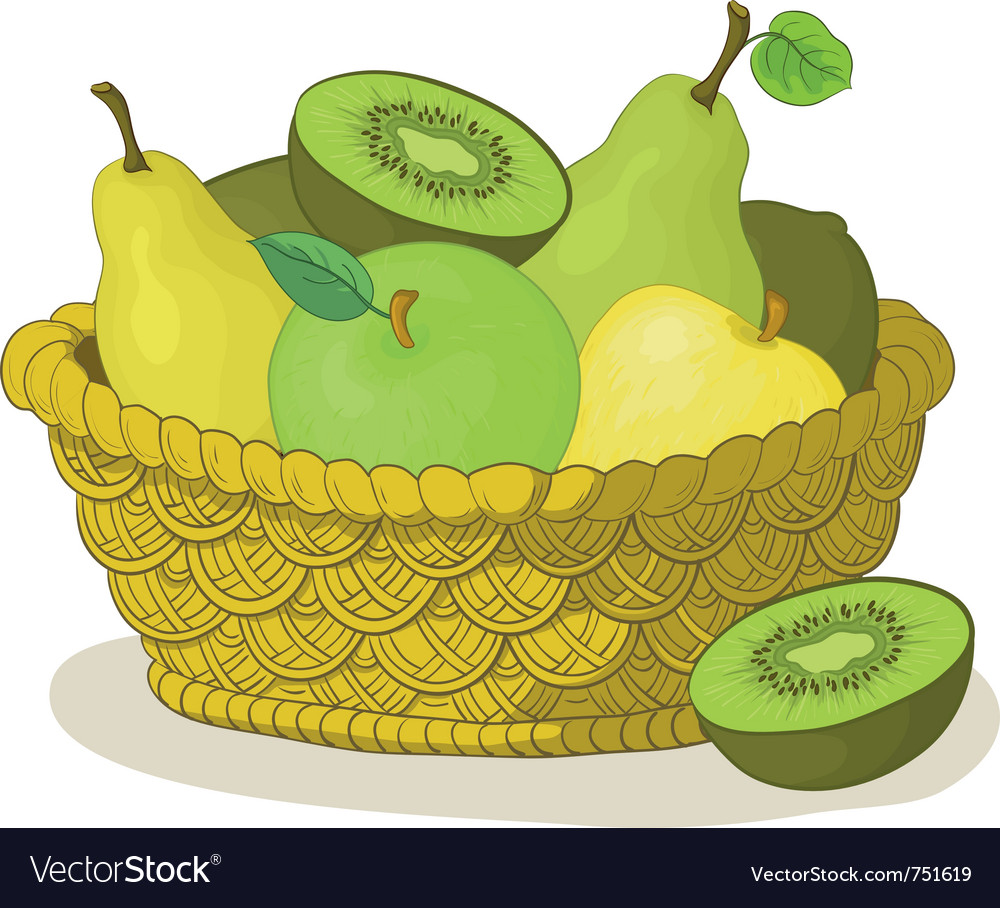 Basket with fruits vector | Price: 3 Credit (USD $3)