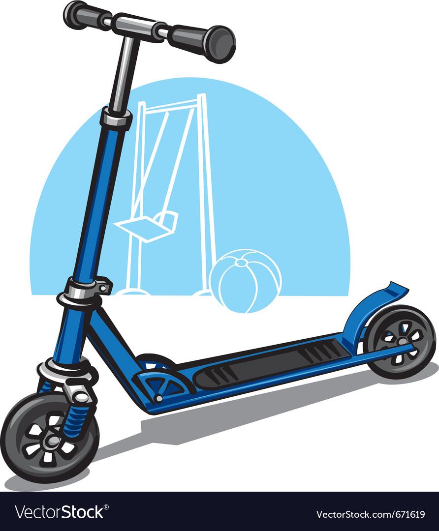 Children scooter vector | Price: 3 Credit (USD $3)