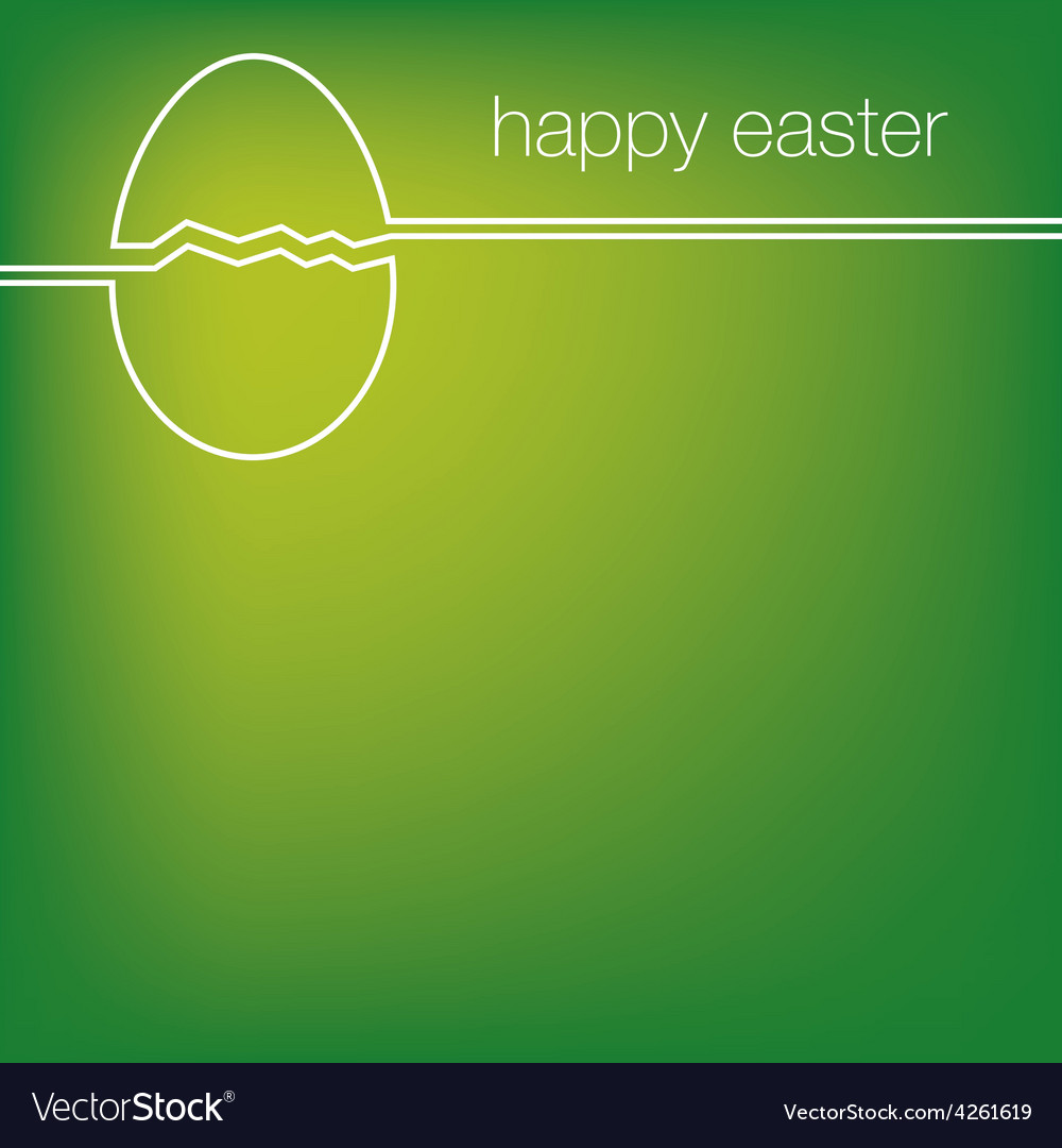 Continuous line easter egg card in format vector | Price: 1 Credit (USD $1)