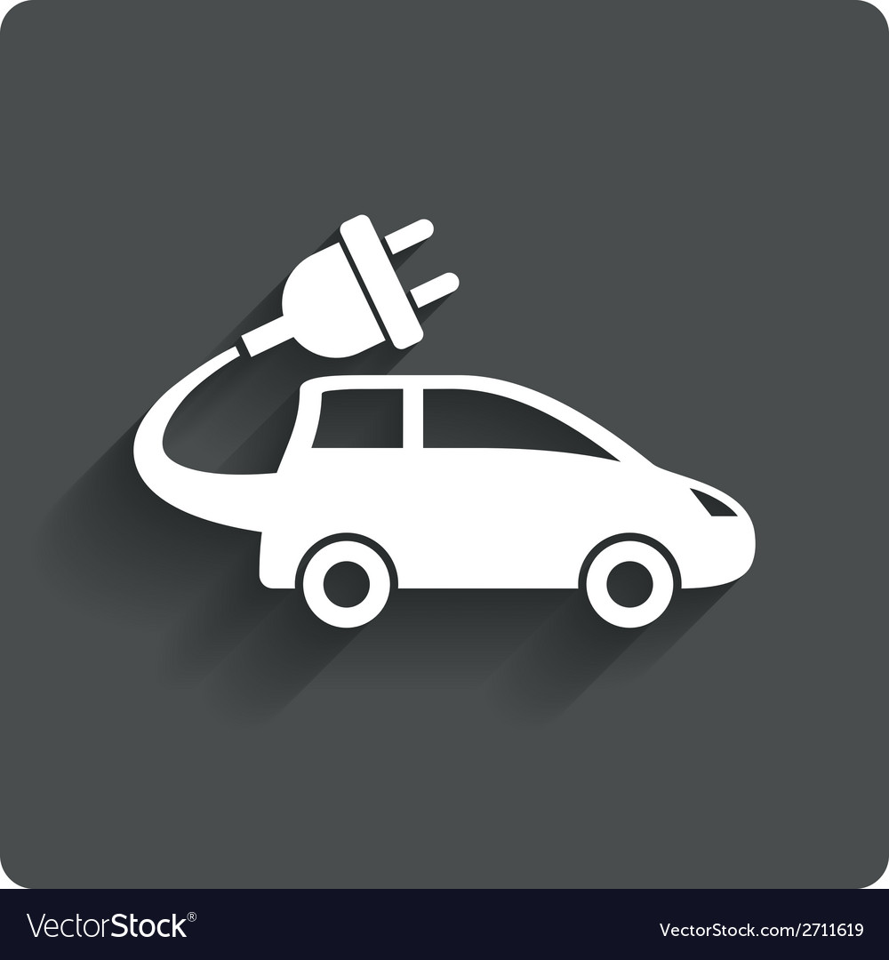 Electric car sign icon hatchback symbol vector | Price: 1 Credit (USD $1)