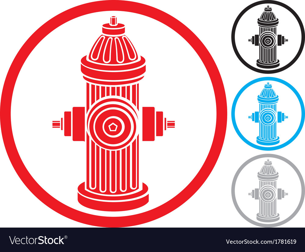 Fire hydrant symbol vector | Price: 1 Credit (USD $1)