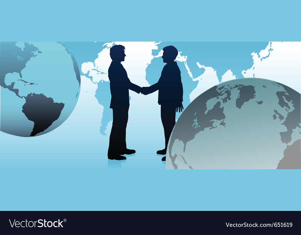 Global business people vector | Price: 1 Credit (USD $1)