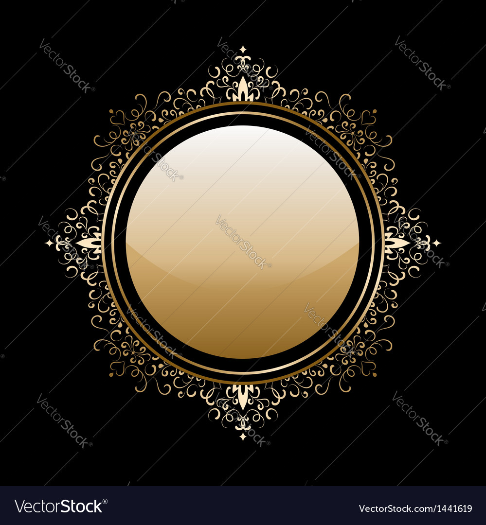 Gold round frame vector | Price: 1 Credit (USD $1)
