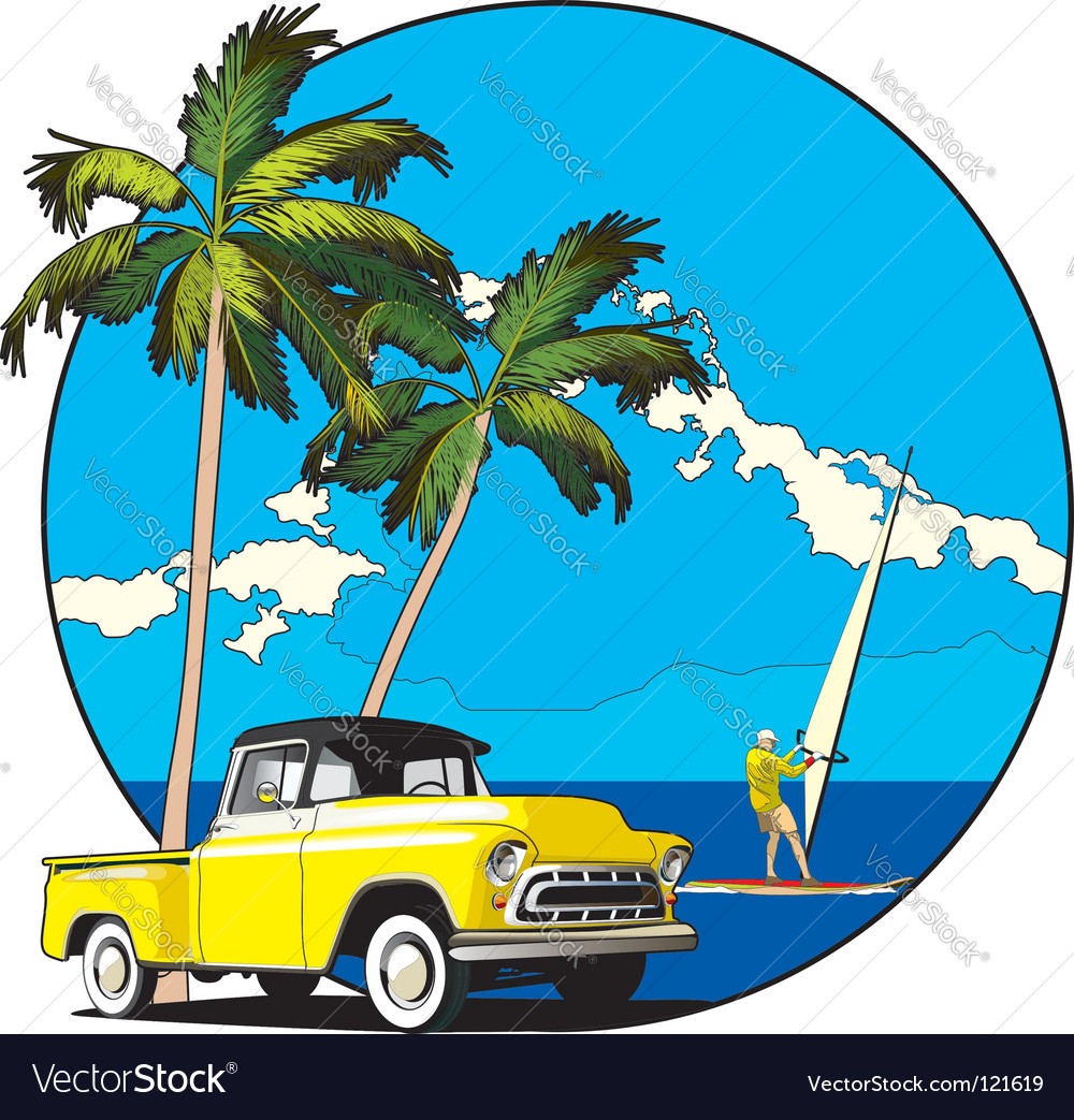 Hawaiian vignette vector | Price: 1 Credit (USD $1)