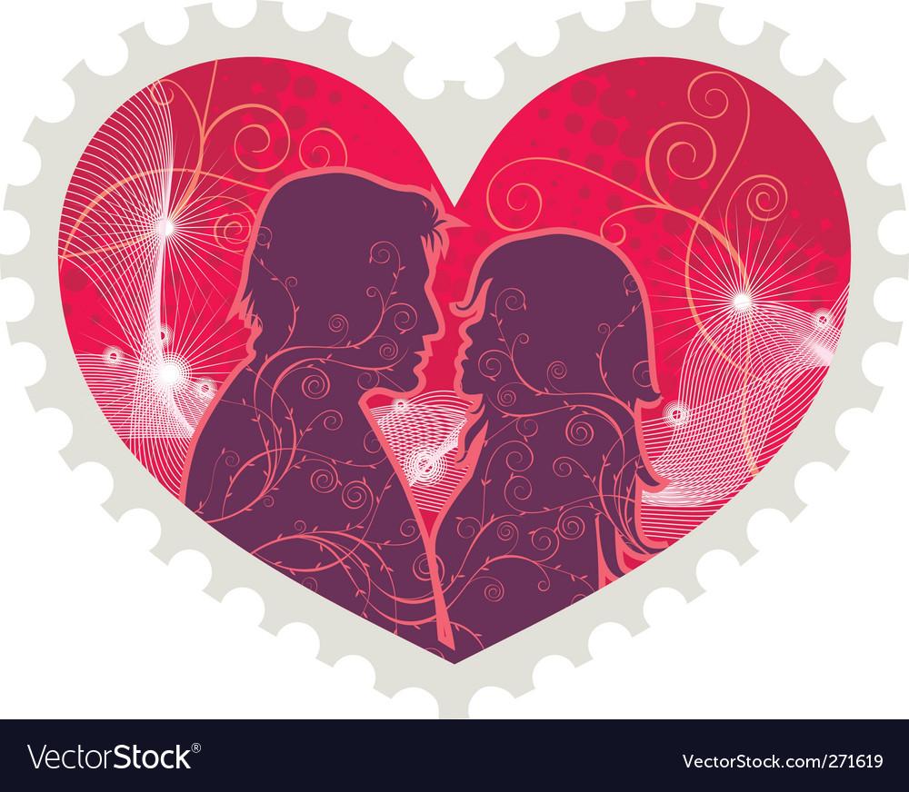 Heart stamp vector | Price: 1 Credit (USD $1)