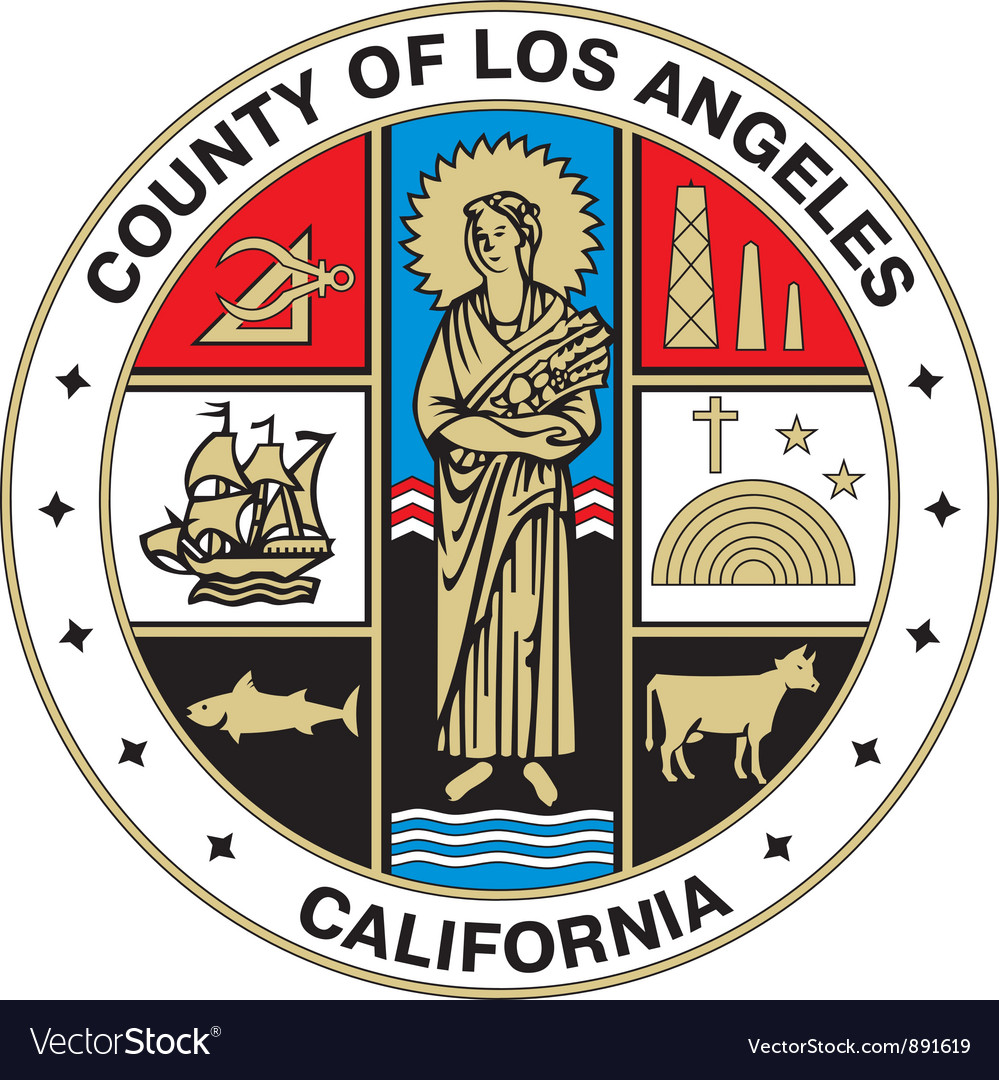 Los angeles county seal vector | Price: 1 Credit (USD $1)