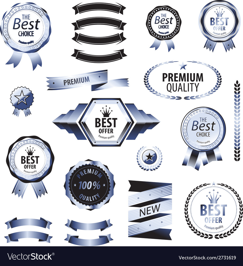Luxury silver premium quality best choice labels vector | Price: 1 Credit (USD $1)