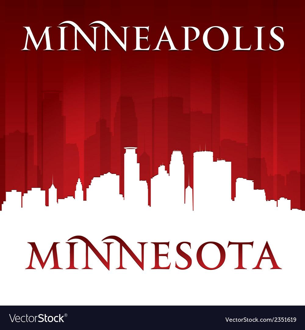 Minneapolis minnesota city skyline silhouette vector | Price: 1 Credit (USD $1)