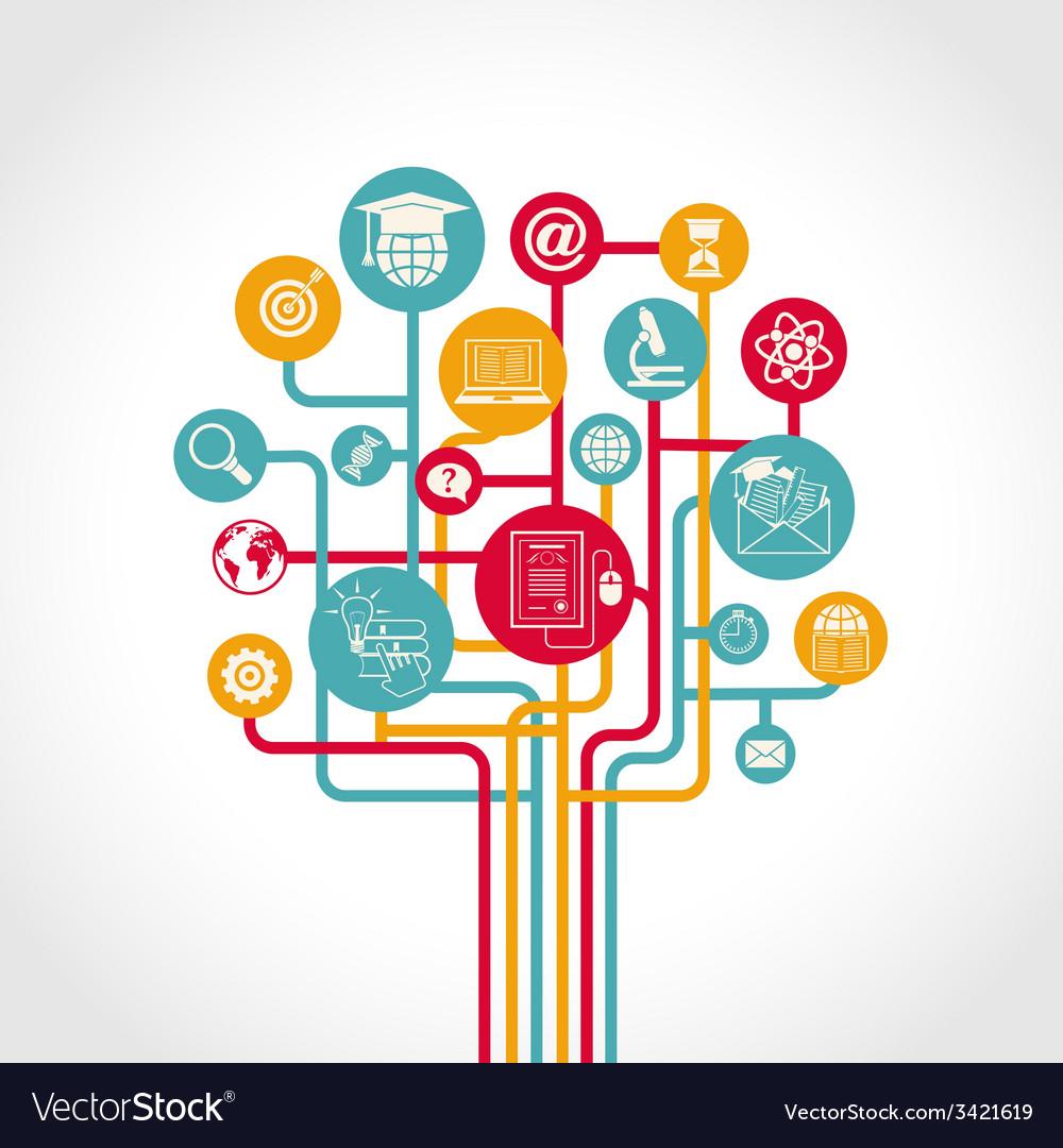 Online education tree vector | Price: 1 Credit (USD $1)