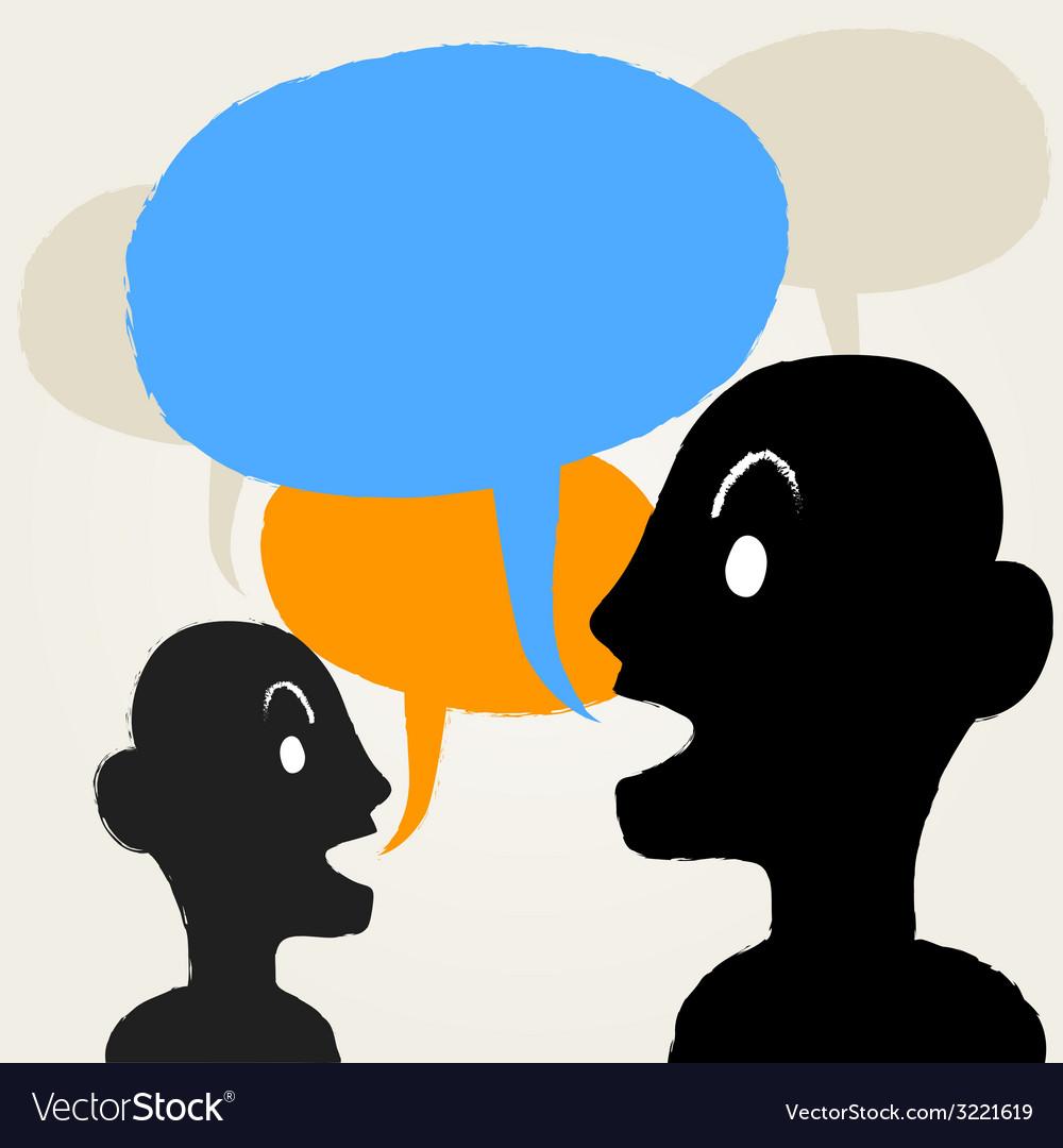 Peopletalking vector | Price: 1 Credit (USD $1)