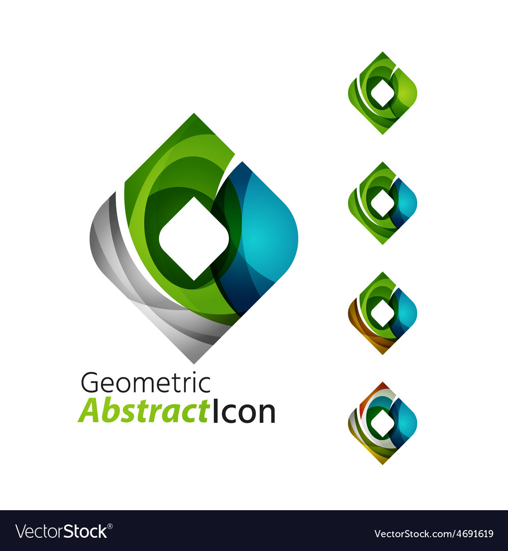 Set of abstract geometric company logo square vector | Price: 1 Credit (USD $1)