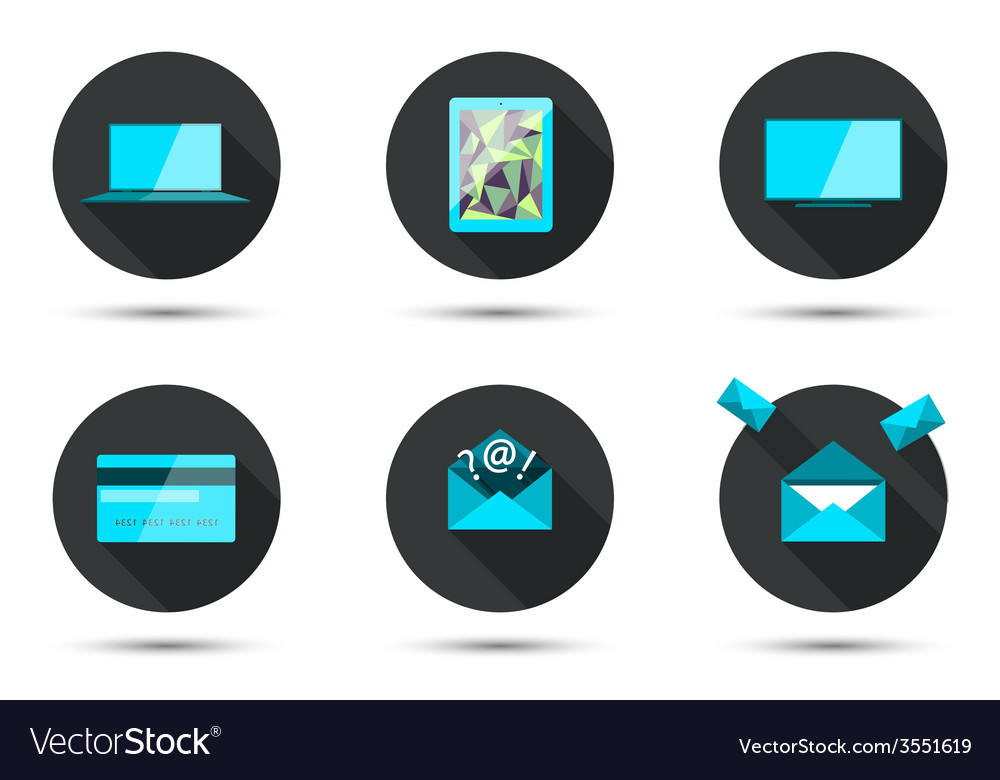 Set of stylish icons vector | Price: 1 Credit (USD $1)
