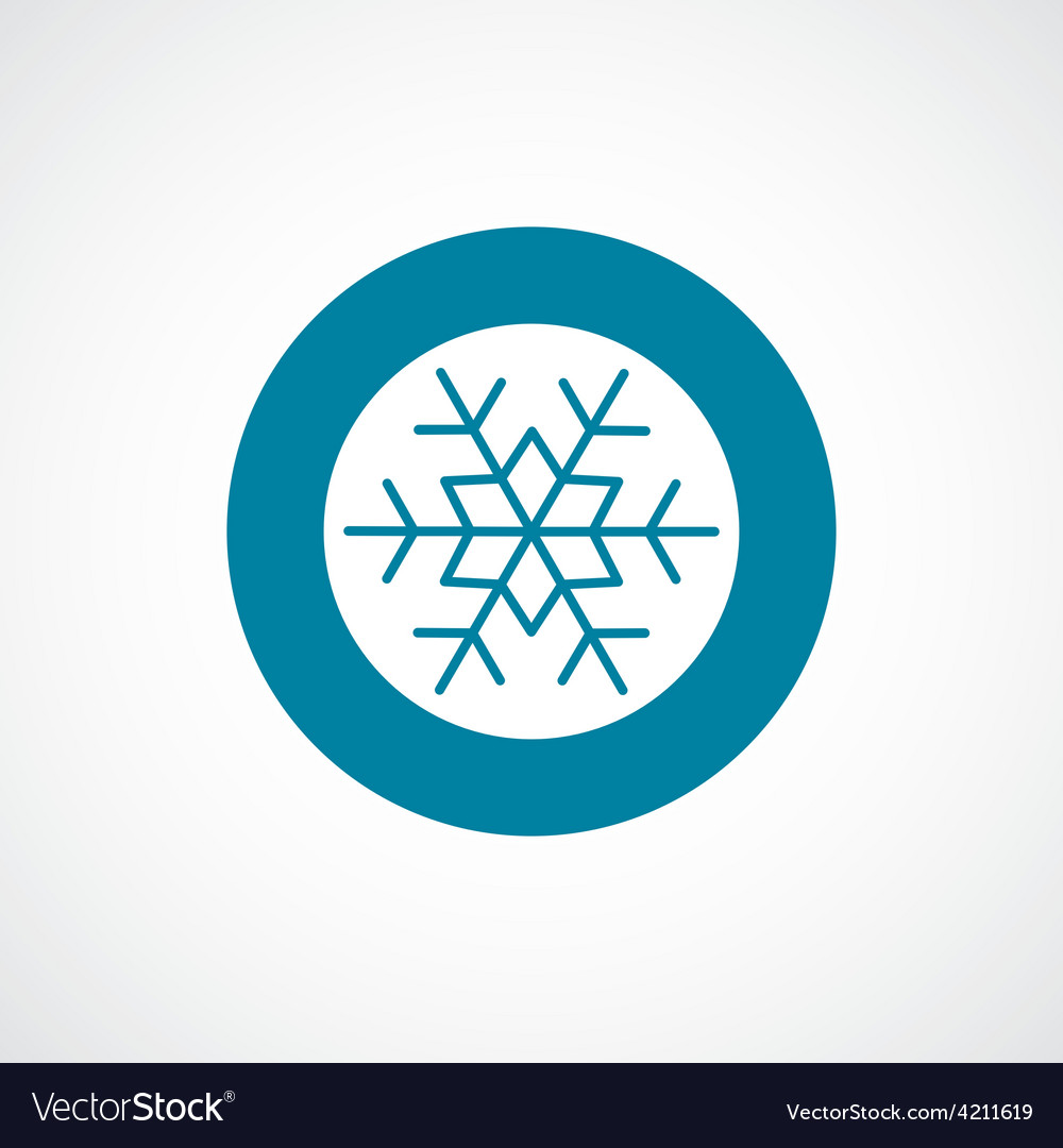 Snowflake icon bold blue circle border vector | Price: 1 Credit (USD $1)