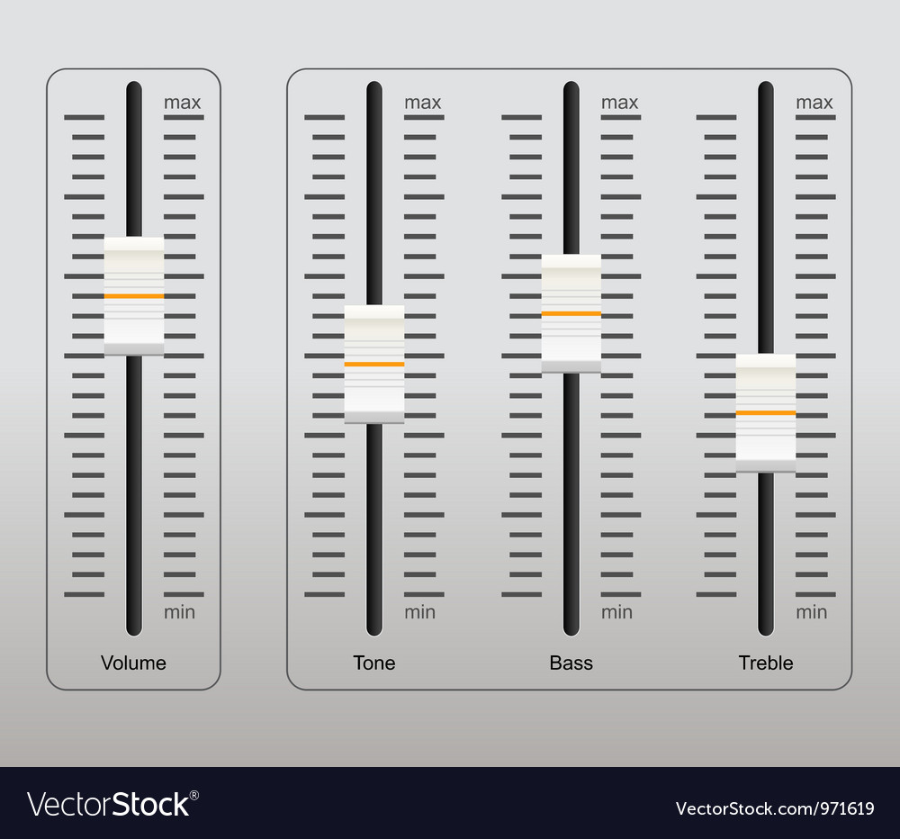 Sound control panel vector | Price: 3 Credit (USD $3)