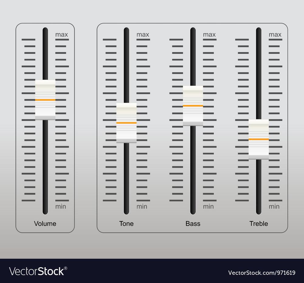 Sound control panel vector | Price: 3 Credit (USD $3)
