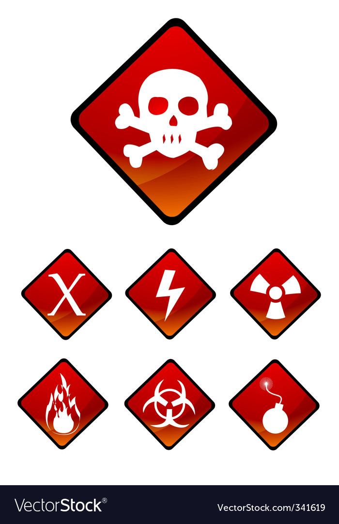 Warning sign icons vector | Price: 1 Credit (USD $1)